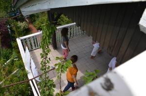 Zavestna hoja na terasi